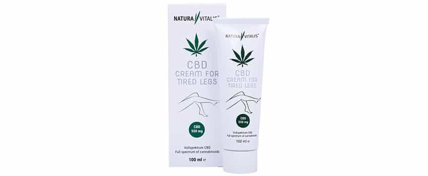 CBD Creme für müde Beine